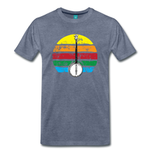 Load image into Gallery viewer, Men's Banjo Rainbow T-Shirt - heather blue
