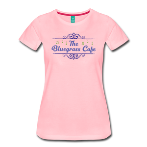 Women's The Bluegrass Cafe (swirl) T-Shirt - pink