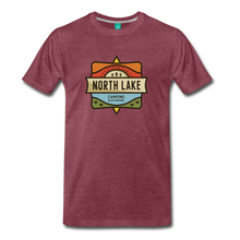 Load image into Gallery viewer, Men's North Lake T-Shirt - heather burgundy