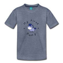 Load image into Gallery viewer, Toddler My First Pony T-Shirt (blue patch) - heather blue