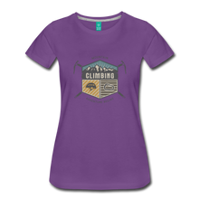 Load image into Gallery viewer, Women's Climbing T-Shirt - purple