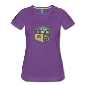 Women's Climbing T-Shirt - purple