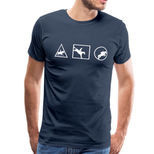 Load image into Gallery viewer, Men's Horse Symbols (solid) T-Shirt - navy