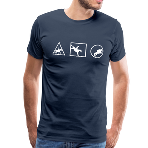 Men's Horse Symbols (solid) T-Shirt - navy