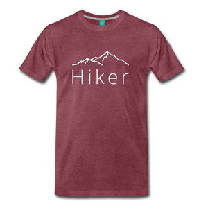 Men's Hiker T-Shirt - heather burgundy