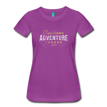 Load image into Gallery viewer, Women's Outdoor Adventure Canada T-Shirt - light purple