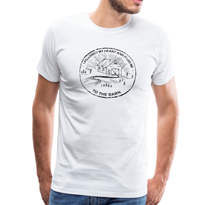 Men's Followed My Heart (distressed) T-Shirt - white