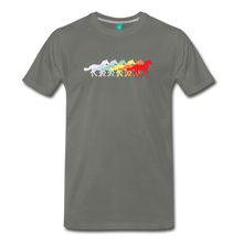 Load image into Gallery viewer, Men's Retro Rainbow Horse T-Shirt - asphalt