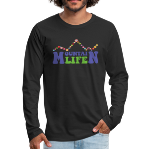 Men's 60s Mountain Life Long Sleeve Shirt - black