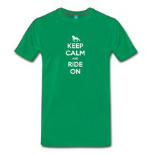 Load image into Gallery viewer, Men's Keep Calm and Ride On T-Shirt - kelly green