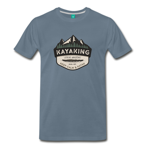 Men's Kayaking T-Shirt - steel blue