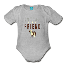 Load image into Gallery viewer, Future Friend Baby Bodysuit - heather gray