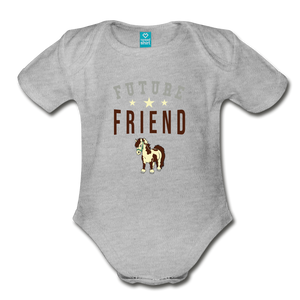 Future Friend Baby Bodysuit - heather gray