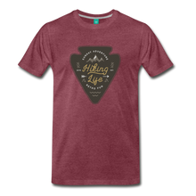 Load image into Gallery viewer, Men's Hiking Life T-Shirt - heather burgundy
