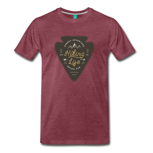 Men's Hiking Life T-Shirt - heather burgundy
