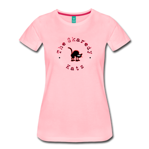 Women's The Skaredy Katz T-Shirt - pink