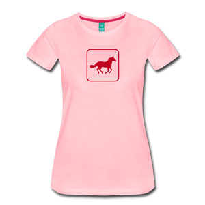 Women's Horse Icon T-Shirt - pink