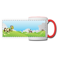 Load image into Gallery viewer, Horse on a Spring Day Mug - white/red