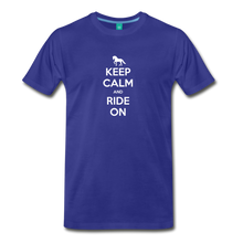Load image into Gallery viewer, Men's Keep Calm and Ride On T-Shirt - royal blue