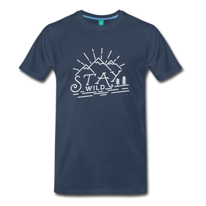 Men's Stay Wild T-Shirt (white) - navy
