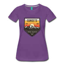 Load image into Gallery viewer, Women's Sunset T-Shirt - purple