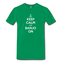 Load image into Gallery viewer, Men's Keep Calm and Banjo On T-Shirt - kelly green