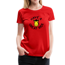 Load image into Gallery viewer, Women's Have a Great Ride T-Shirt - red