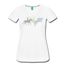 Load image into Gallery viewer, Women's Shadowed Eventing T-Shirt - white