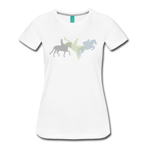 Women's Shadowed Eventing T-Shirt - white