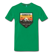 Load image into Gallery viewer, Men's Sunset T-Shirt - kelly green