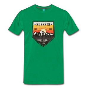 Men's Sunset T-Shirt - kelly green