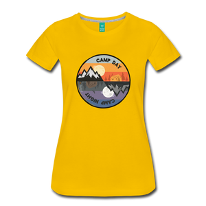 Women's Camp Day T-Shirt - sun yellow