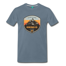 Load image into Gallery viewer, Men's Hiking T-Shirt - steel blue
