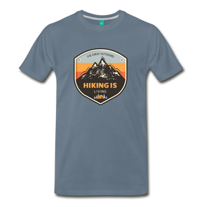 Men's Hiking T-Shirt - steel blue