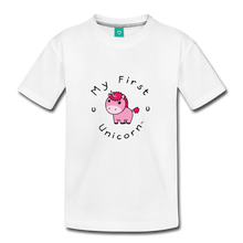 Load image into Gallery viewer, Toddler My First Unicorn T-Shirt (pink) - white