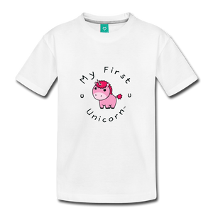 Toddler My First Unicorn T-Shirt (pink) - white