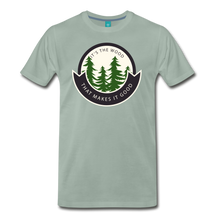 Load image into Gallery viewer, Men's Its the Wood T-Shirt - steel green