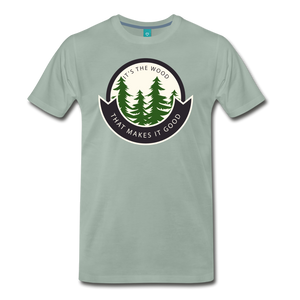 Men's Its the Wood T-Shirt - steel green