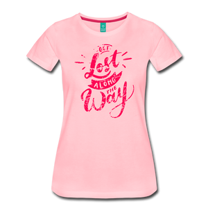 Women's Get Lost Along the Way T-Shirt - pink