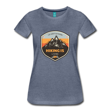 Load image into Gallery viewer, Women's Hiking T-Shirt - heather blue