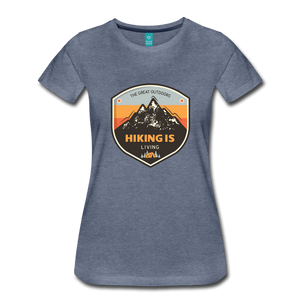 Women's Hiking T-Shirt - heather blue