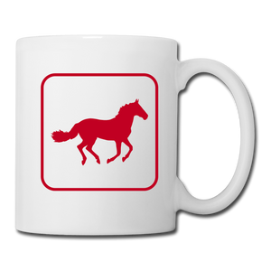 Horse Icon Coffee/Tea Mug - white