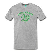 Load image into Gallery viewer, Men's Mountain Life (script) T-Shirt - heather gray