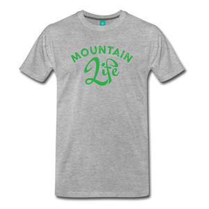 Men's Mountain Life (script) T-Shirt - heather gray