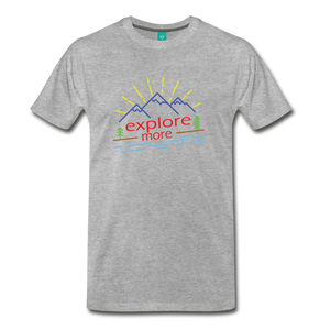 Men's Colored Explore More T-Shirt - heather gray
