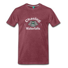 Load image into Gallery viewer, Men's Chasing Waterfalls T-Shirt - heather burgundy