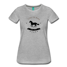 Load image into Gallery viewer, Women's Live to Ride T-Shirt - heather gray