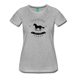 Women's Live to Ride T-Shirt - heather gray