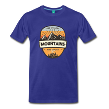 Load image into Gallery viewer, Men's Mountain's Calling T-Shirt - royal blue