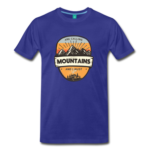 Men's Mountain's Calling T-Shirt - royal blue